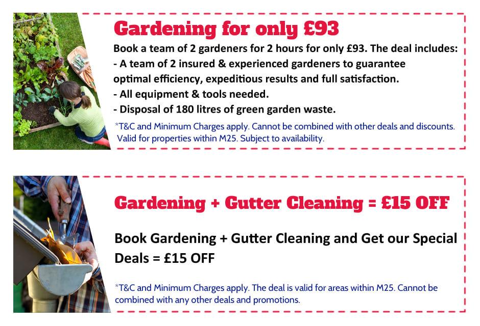 Gardeners Shepherds Bush Offer